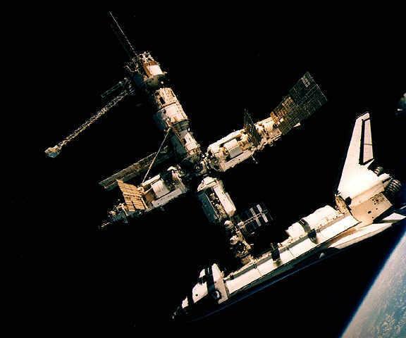 pred kraj Mir je poslu�io kao platforma za ISS